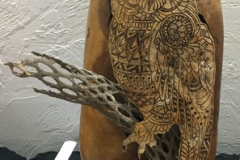 Penelope Deshur, AZ. Category: Woodburning. First Place, Best of Division, AGS Artistry Award